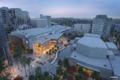 SAFE Credit Union Convention Center Rendering West Aerial Night