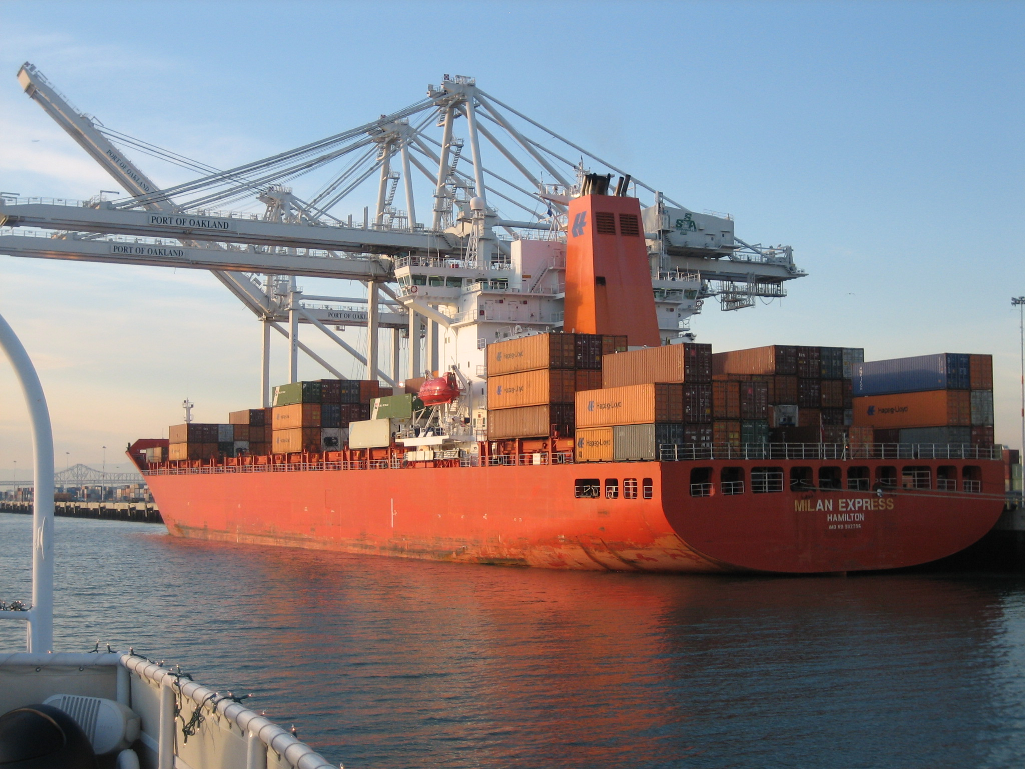 Shipping Container Ship at Port