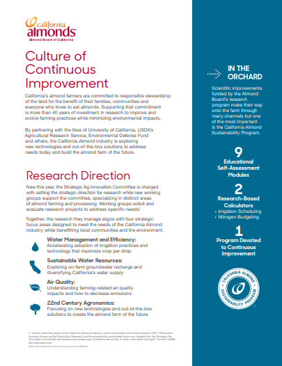 culture of continuous improvement factsheet