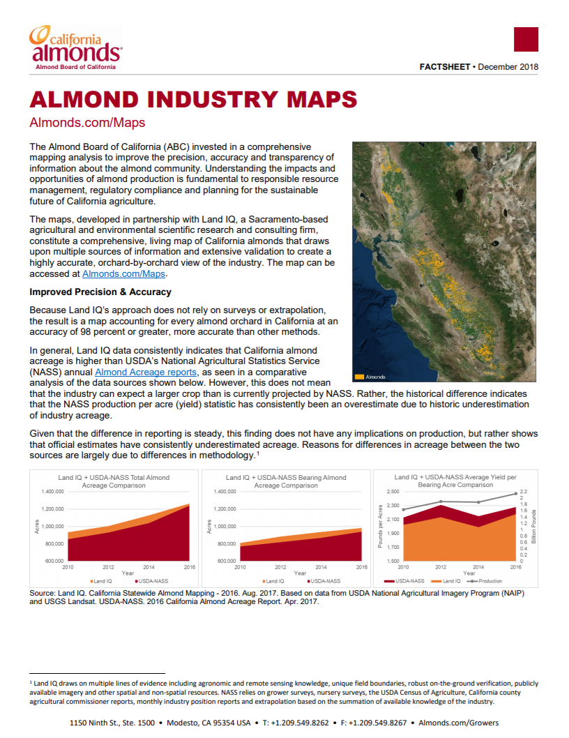 Industry California Map.Almond Industry Maps California Almonds Your Favorite Easy Snack