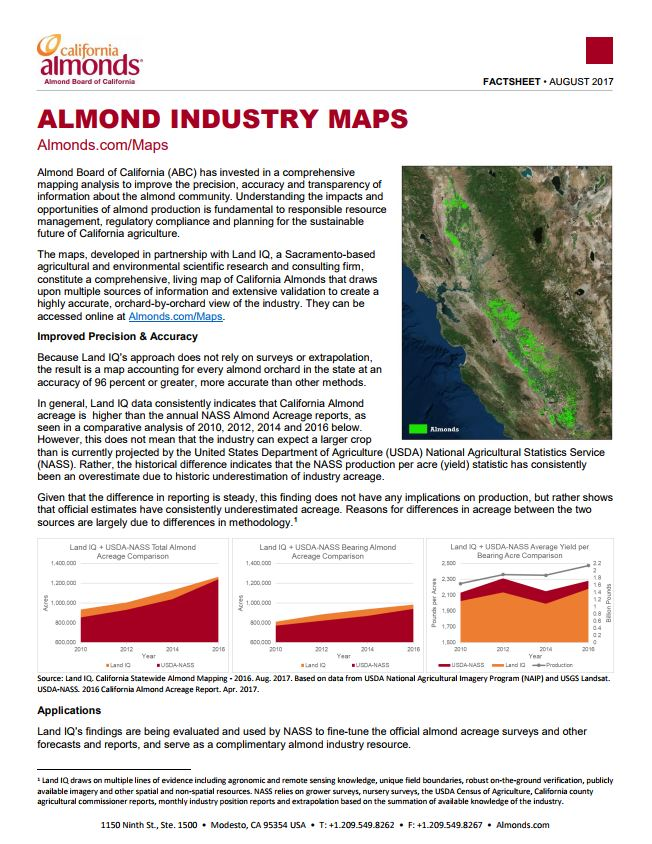 Industry Statistics And Maps Almond Board Of California - Iq map of us